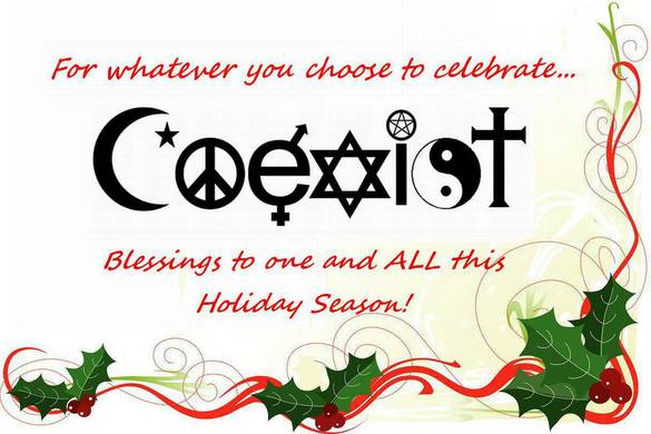 coexist happy holiday season