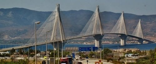 cable bridge gulf of corinth