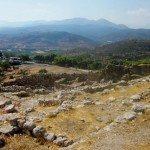 ruins of the palace, mycenae