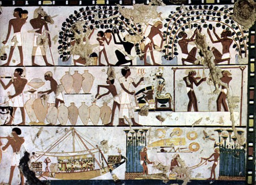 egyptian wine making