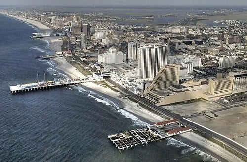aerial view of atlantic city