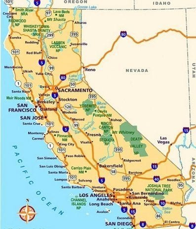map of california