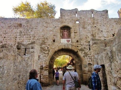 medieval city entrance