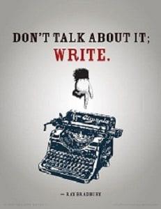 writing not talking
