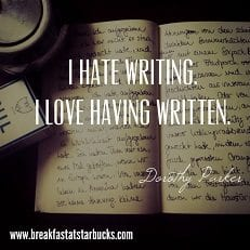 hate writing quote