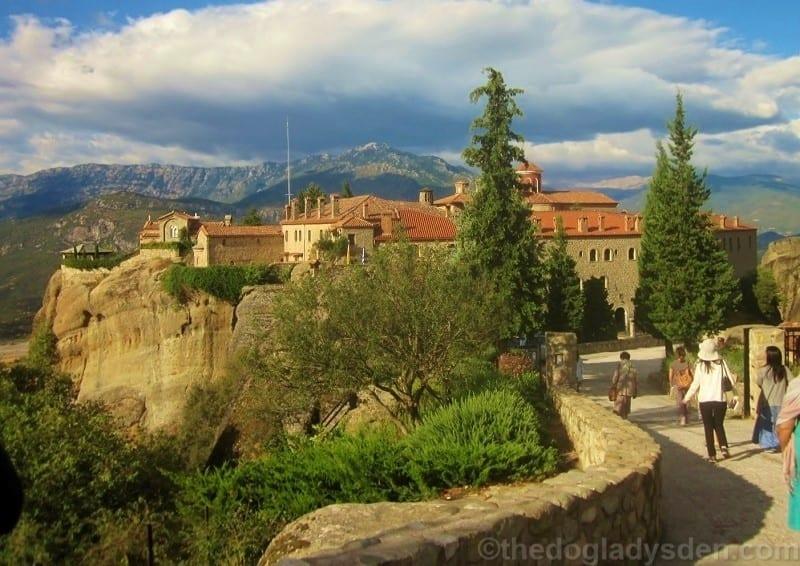 entrance to st. stephen`s monastery, Meteora