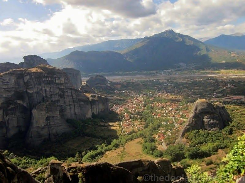 Kastraki Village view, Meteora