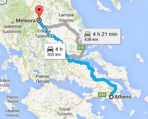 Meteora to Athens,Greece