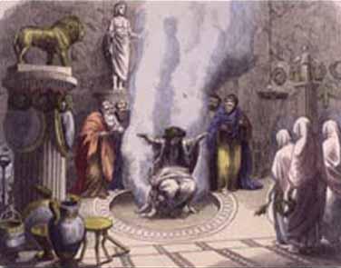 Artist depiction, oracle of Delphi