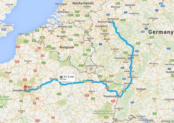 Bochum Germany to France