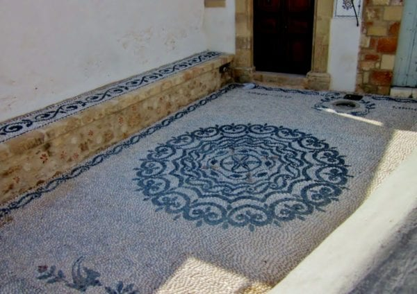 Lindos, Rhodes, Greece. Choklakia patterns are everywhere!