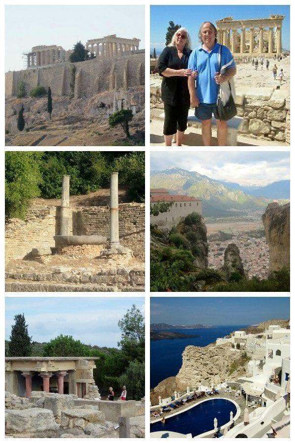 Greek trip collage